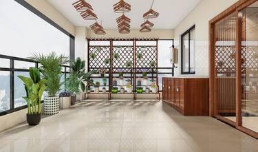 20万以上140平米别墅美式风格阳台效果图