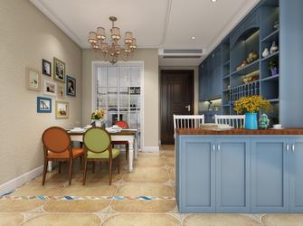 110平米三室两厅地中海风格餐厅装修效果图