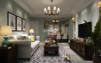90平米三室两厅美式风格客厅装修图片大全