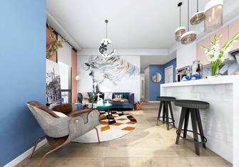 50平米一居室英伦风格客厅图片