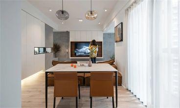 80平米三室两厅现代简约风格餐厅装修案例