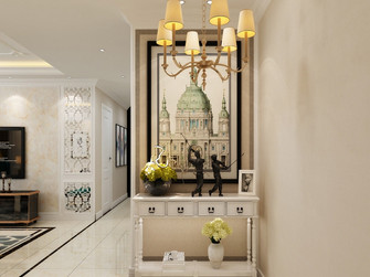 140平米三室一厅美式风格走廊图片大全