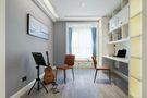 富裕型110平米三室一厅美式风格书房图片大全