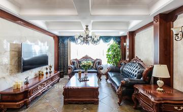 140平米三室两厅田园风格客厅效果图