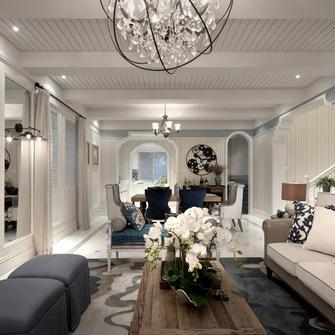 经济型100平米三室一厅地中海风格客厅欣赏图