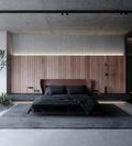140平米工业风风格卧室装修效果图