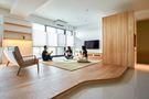 富裕型130平米日式风格客厅图