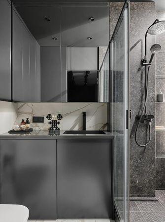 经济型60平米公寓现代简约风格卫生间图