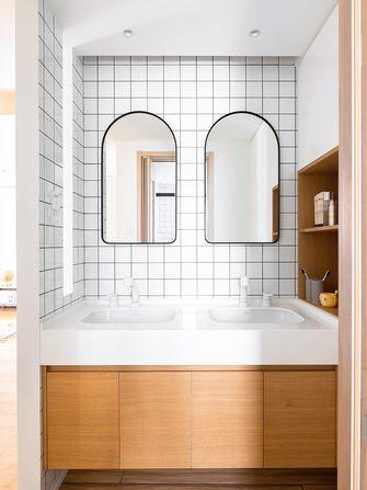 富裕型80平米三室两厅日式风格卫生间效果图