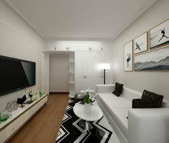 60平米一室两厅现代简约风格客厅装修案例