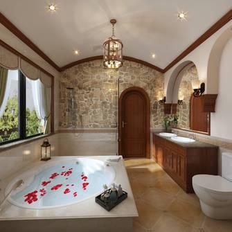 20万以上140平米别墅地中海风格卫生间图片
