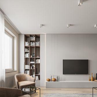豪华型140平米三室一厅现代简约风格卧室图片大全