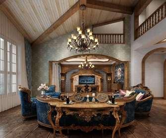 140平米复式英伦风格客厅图片