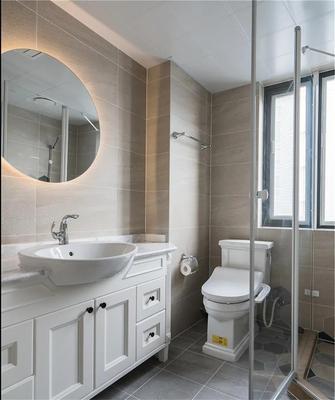 富裕型130平米三室两厅美式风格卫生间图片大全