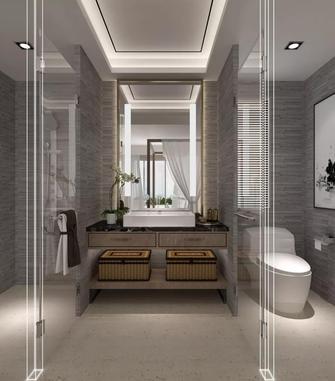 富裕型140平米三室一厅地中海风格卫生间图片大全
