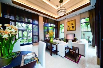 120平米三东南亚风格客厅装修效果图