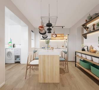 20万以上70平米一居室北欧风格餐厅图片