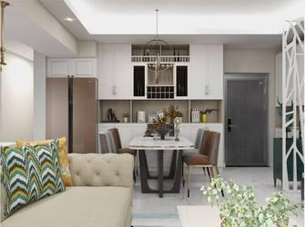 豪华型140平米四室一厅轻奢风格餐厅图片