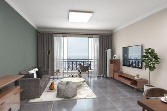 100平米三室三厅现代简约风格客厅图片大全
