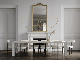 20万以上140平米四法式风格餐厅效果图