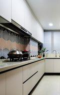 豪华型100平米三室两厅美式风格厨房装修效果图