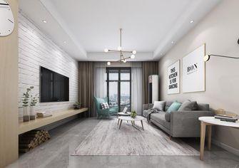 50平米一室一厅北欧风格客厅图