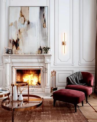 120平米三室两厅法式风格客厅图片