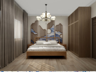 120平米三日式风格卧室欣赏图