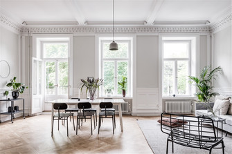 110平米三室一厅美式风格客厅装修效果图
