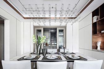 富裕型110平米三室两厅现代简约风格餐厅设计图