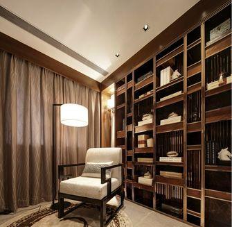 富裕型140平米三室两厅中式风格书房图片大全