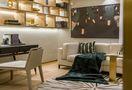 富裕型140平米三室两厅轻奢风格书房图