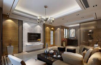 富裕型140平米三室两厅现代简约风格客厅设计图