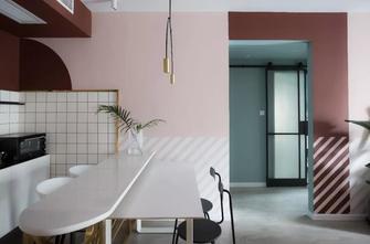 富裕型100平米三室一厅混搭风格餐厅图