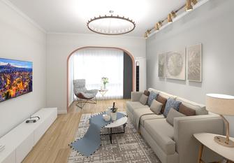 20万以上70平米一室一厅现代简约风格客厅图片