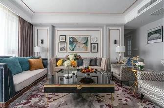 豪华型140平米三室一厅美式风格客厅图