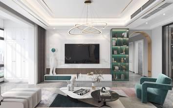 140平米四室两厅轻奢风格客厅设计图