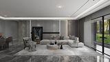 110平米三室两厅现代简约风格客厅图