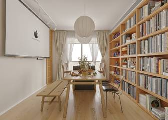 富裕型80平米日式风格客厅图