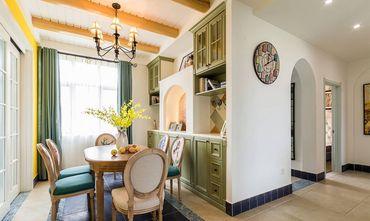 富裕型140平米三室两厅美式风格餐厅装修图片大全