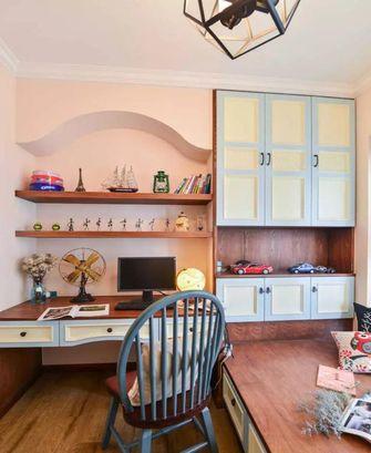 富裕型100平米三室两厅地中海风格书房图片