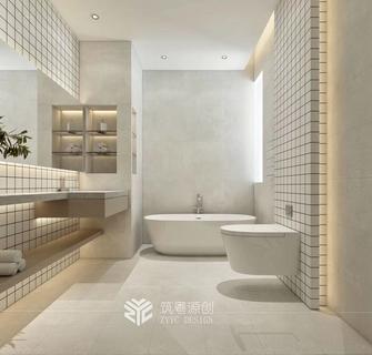 130平米三室一厅现代简约风格卫生间装修效果图