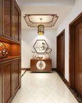 经济型140平米三室两厅中式风格走廊装修图片大全