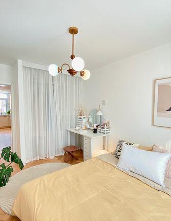 5-10万90平米三室两厅北欧风格卧室装修案例