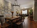 130平米三室两厅美式风格餐厅装修效果图