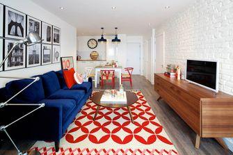 富裕型70平米英伦风格客厅设计图
