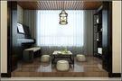 富裕型140平米三室两厅中式风格阳台设计图