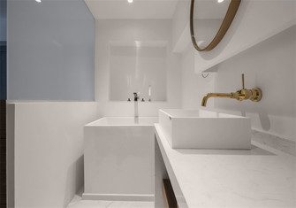 经济型50平米一室一厅北欧风格卫生间欣赏图