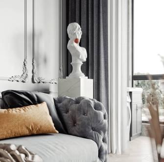 富裕型110平米三室两厅法式风格卧室装修效果图