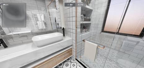 140平米三中式风格卫生间装修效果图